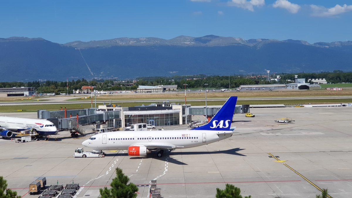 Abflug in Genf mit SAS